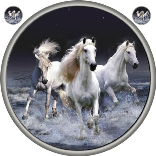 WILD HORSES 4x4 Spare Wheel Cover DECAL STICKER